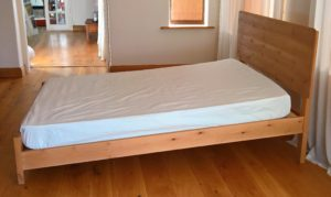 sloping bed
