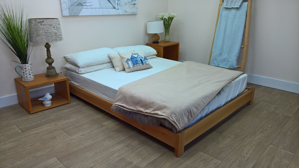 Low level bed frame