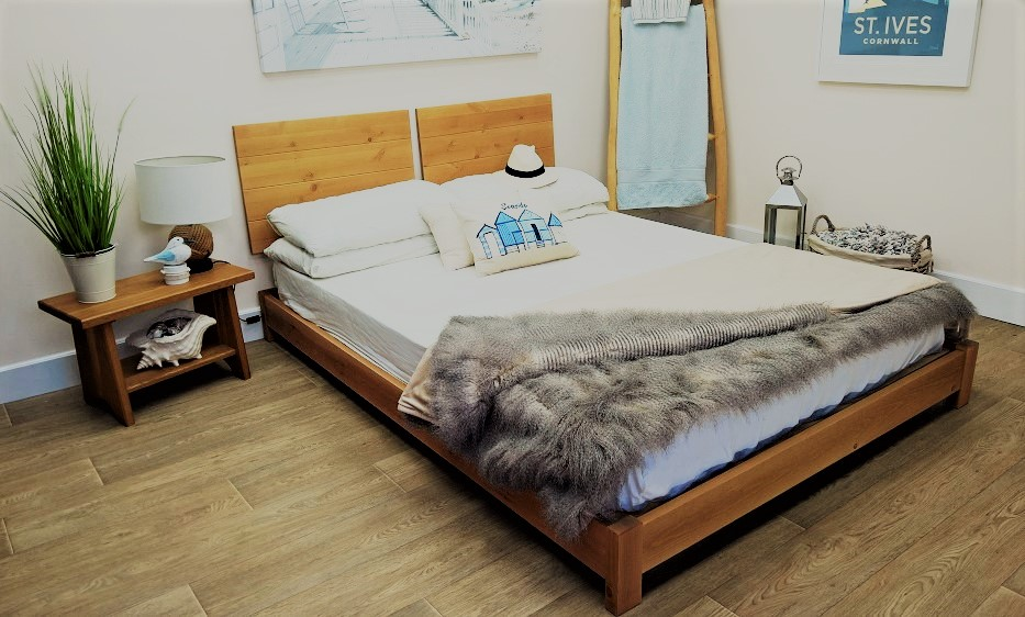 low bed in small room